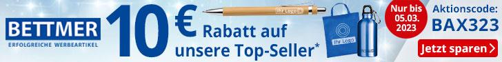 Werbebanner Bettmer DE 10 Euro Sommer Rabatt sichern 728x90